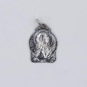 Medalla de La Virgen de Lourdes y la Basilica de Lourdes