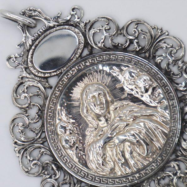 Medallón de la Virgen de la Inmaculada