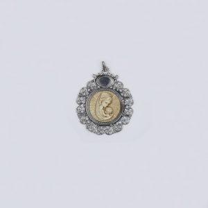 Medallón de la Virgen María con el niño Jesus